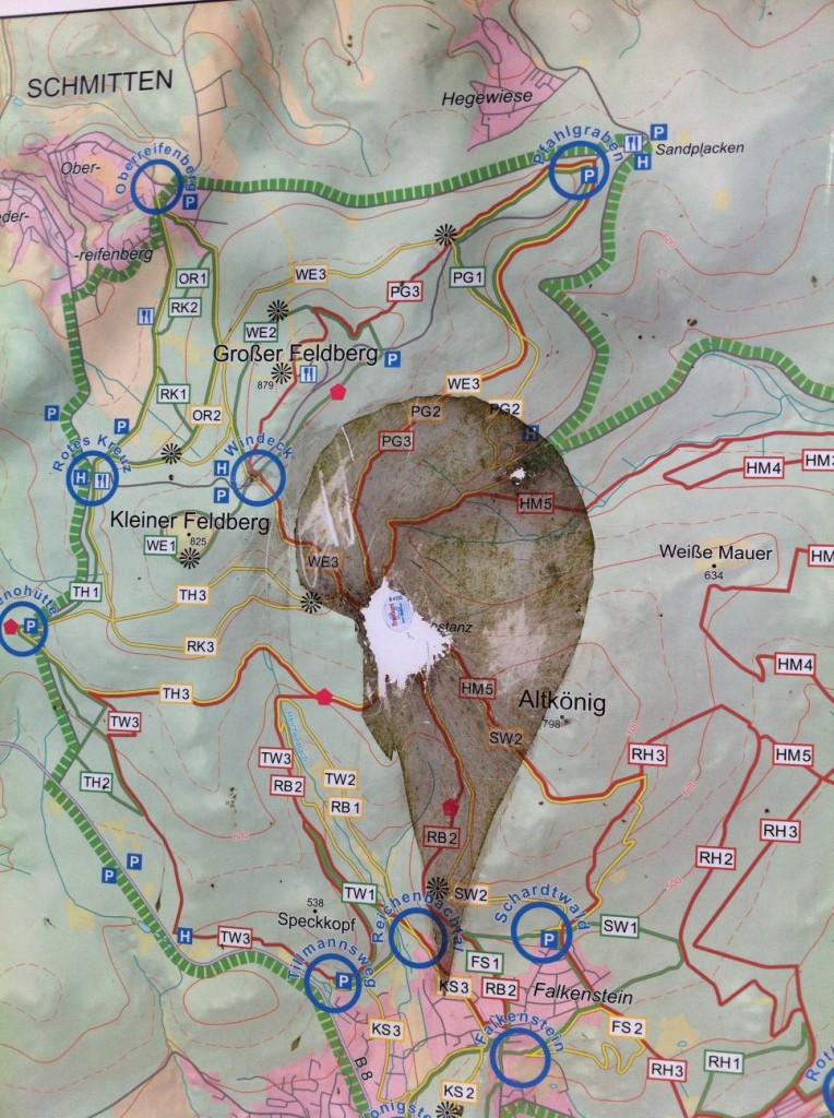 Wanderwege rund um den Großen Feldberg