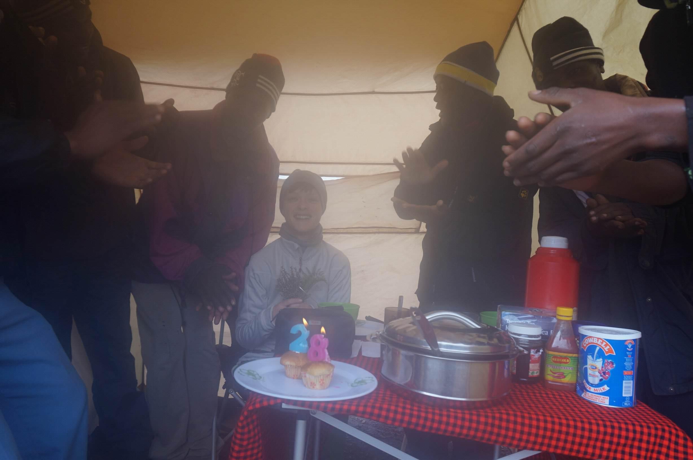 Celebrating my birthday at Shira Camp