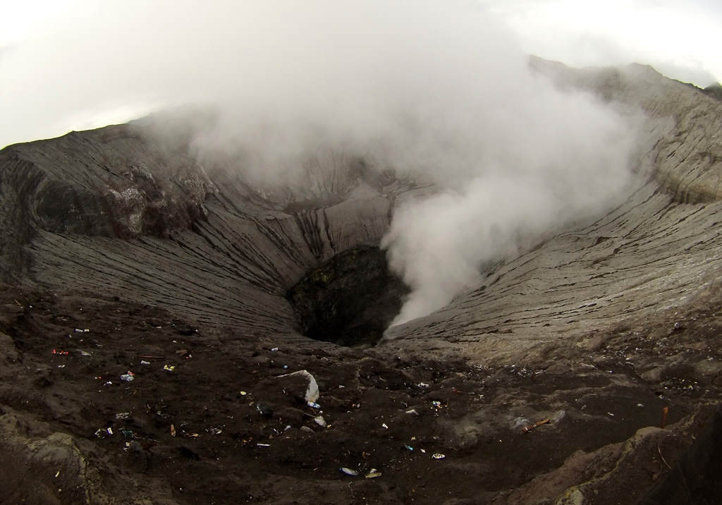 Blick in den Mount Bromo