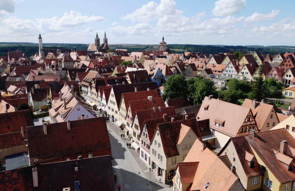 Blick vom Röderturm Rothenburg