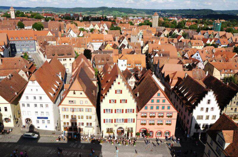 Blick vom Rathausturm Rothenburg