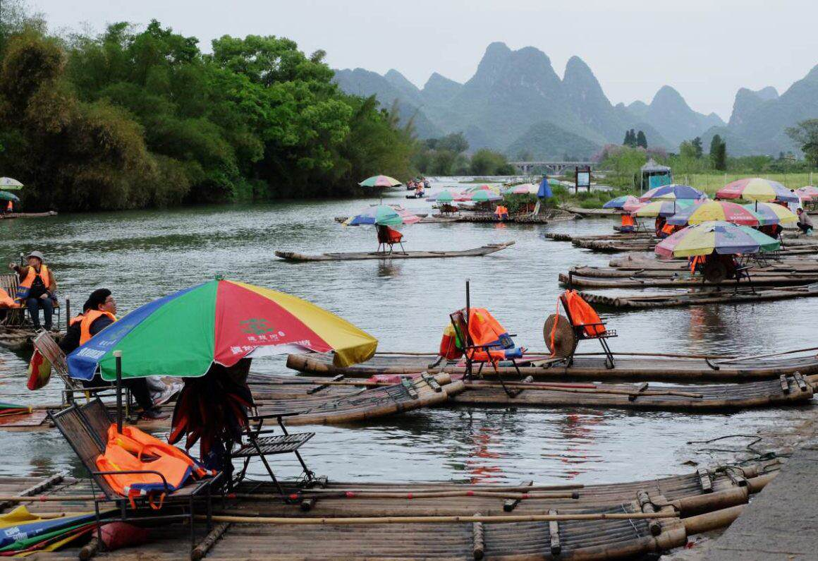 Bamboo Rafting Yulong River