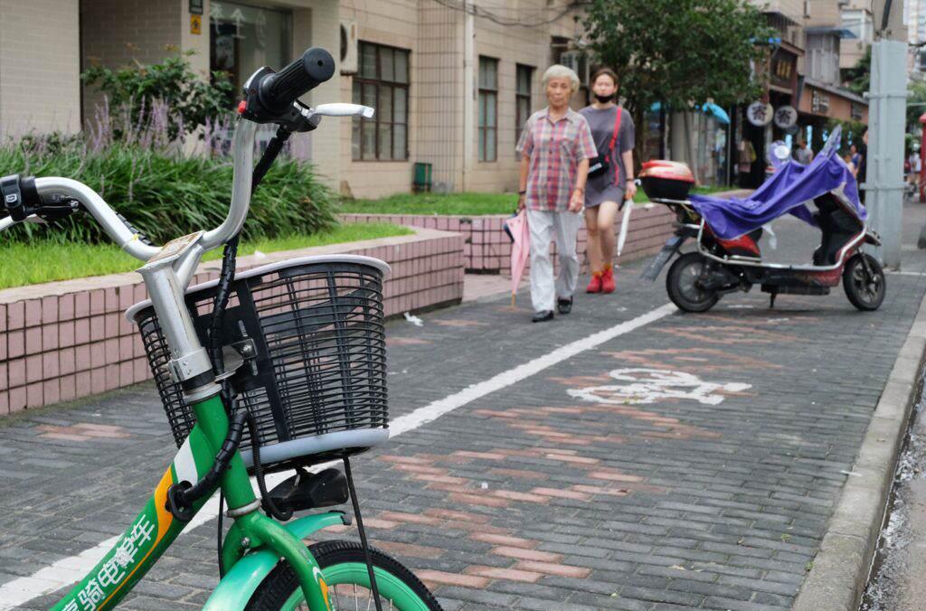 Bike parking area Shanghai