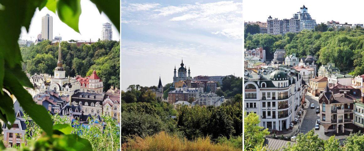 Kiew Castle Hill Vozdvyzhenka Aussicht