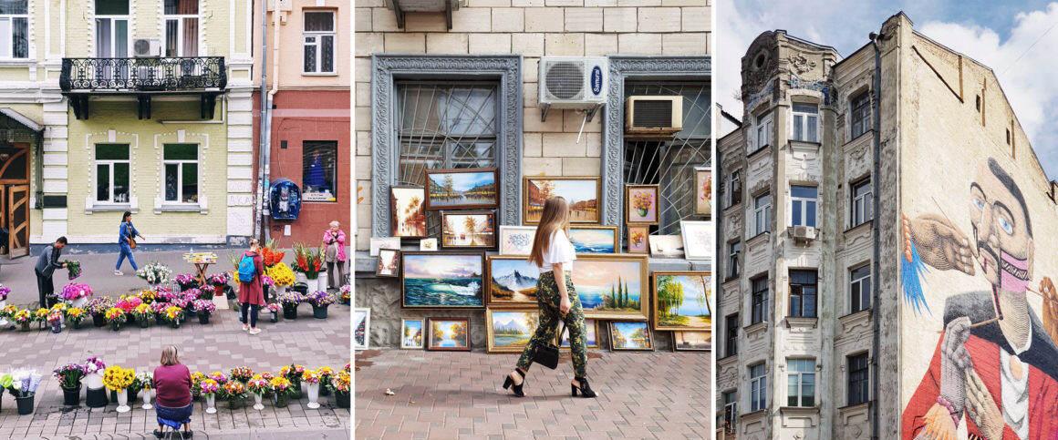 Straßen und Märkte Kiew