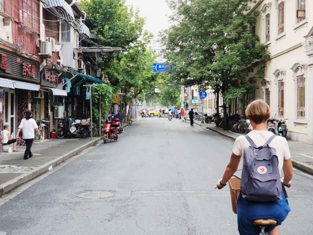 Fahrradfaren in der Former French Concession