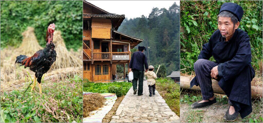 Chinas ethnische Minderheiten im Langde Miao Village Guizhou