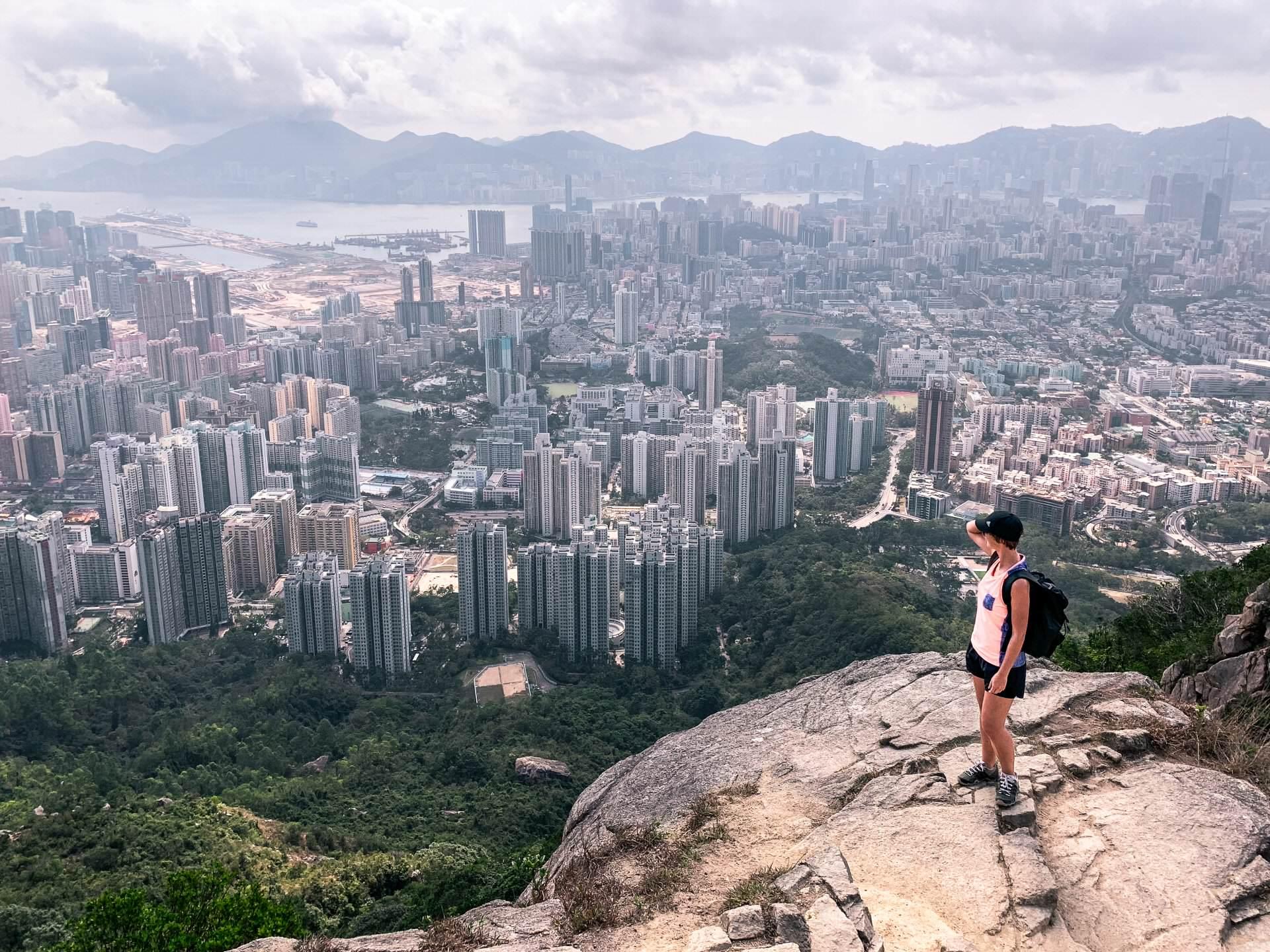 Hongkong aus der Vogelperspektive: Wanderung auf den Lion Rock
