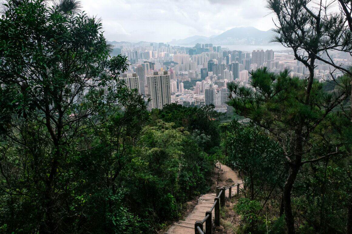 Abstieg Lion Rock Hongkong