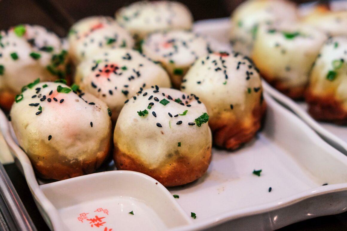 Shengjianbao gebratener Dumpling
