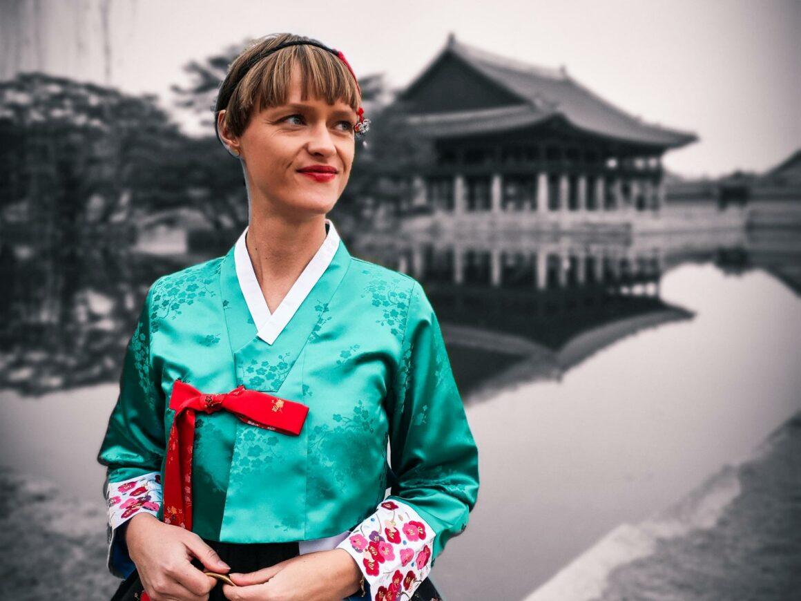 Gyeongbokgung Palast Seoul im Hanbok