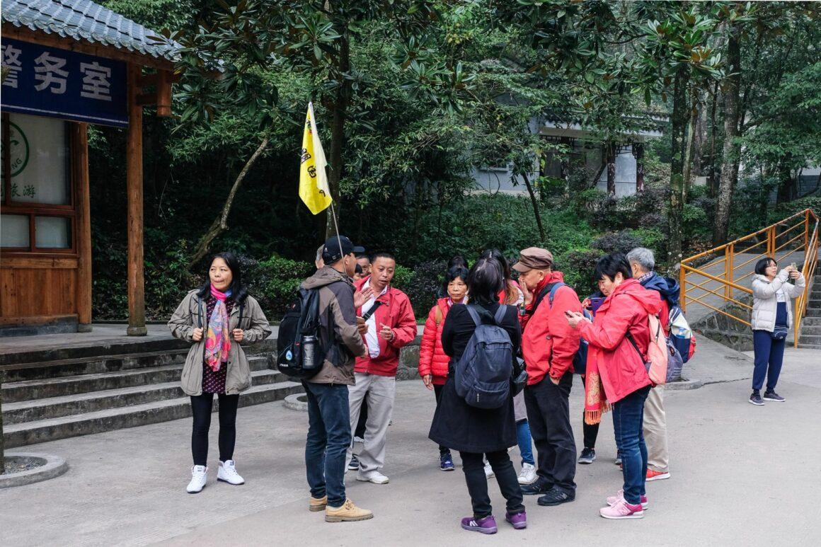 Chinesische Tourgruppen Zhangjiajie