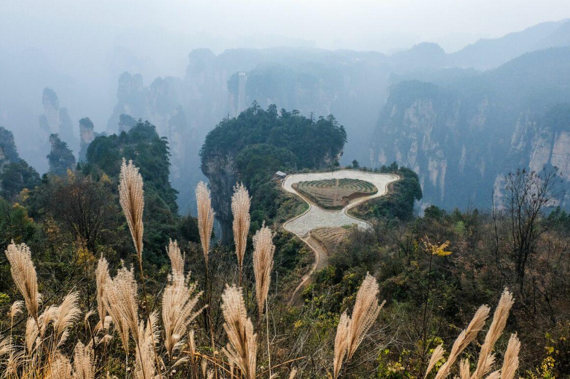 Fields in the Sky Zhangjiajie Nationalpark