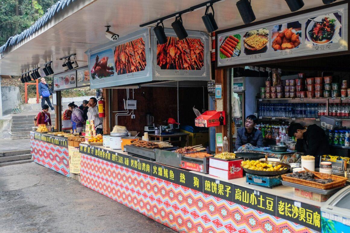 food stalls Zhangjiajie