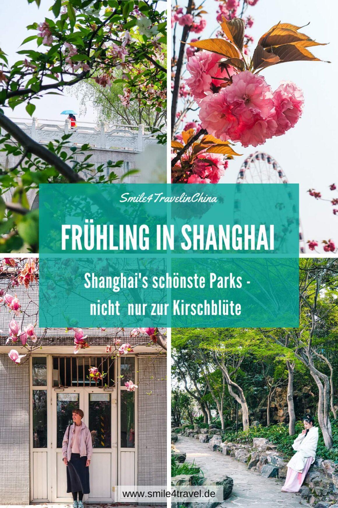 Shanghais Parks im Frühling